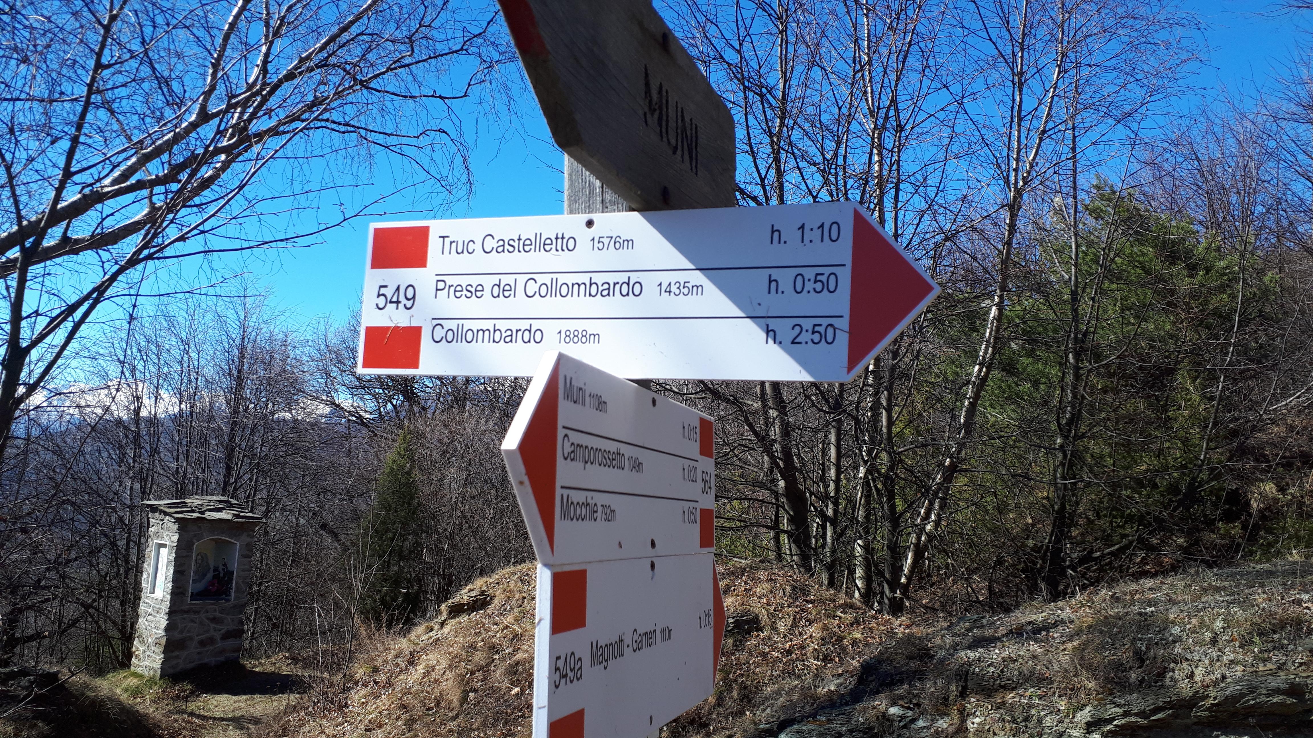 Segnaletica al Truc del Castelletto