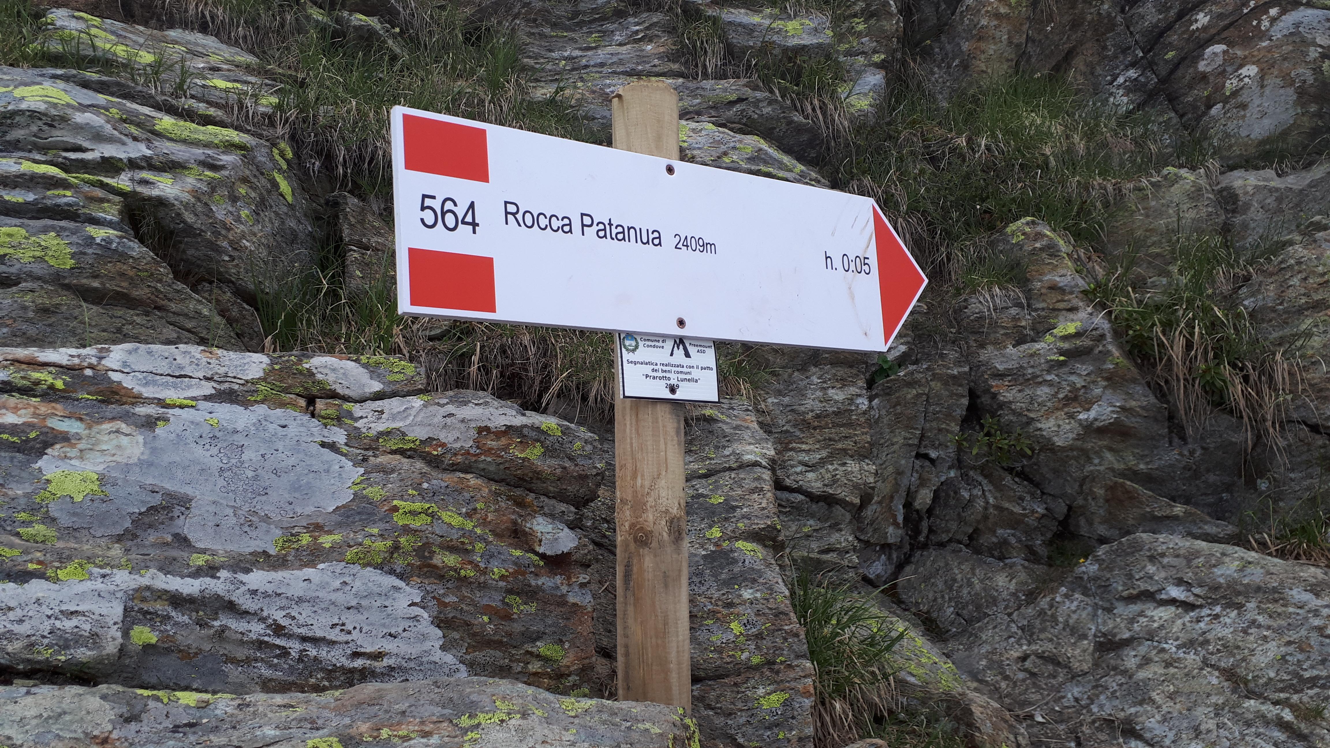 I cartelli a Rocca Patanua